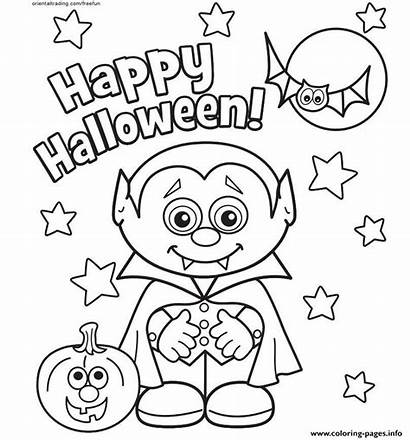Coloring Halloween Happy Pages Printable