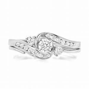 half carat glamorous inexpensive diamond bridal set round With affordable diamond wedding ring sets