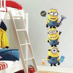 amazon com roommates rmk2081gm despicable me 2 minions giant peel and stick giant wall decals