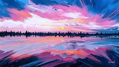 Sky Painting Sunset Paint Sunrise Computer Acrylic