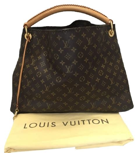 louis vuitton artsy canvas gm monogram leather tote tradesy