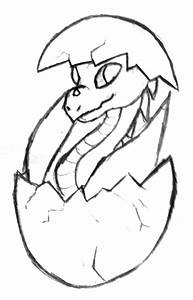 Drawn dragon easy draw - Pencil and in color drawn dragon ...