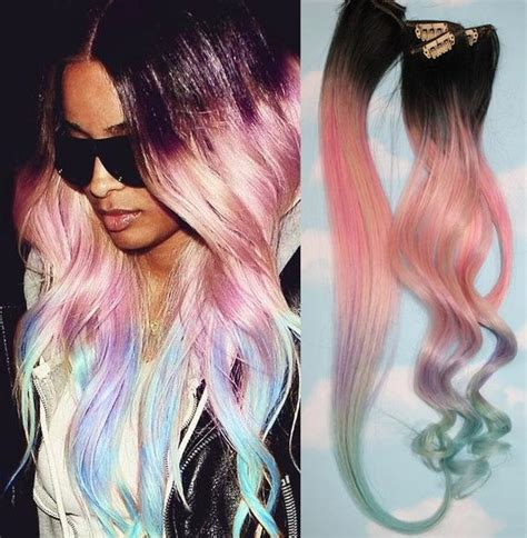 Items Similar To Light Pastel Dip Dyed Hair Clip In Hair