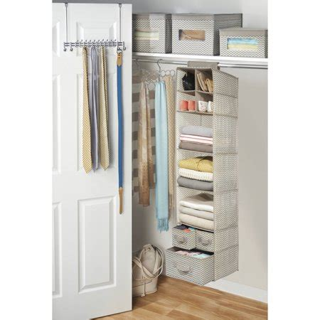 Interdesign Chevron Fabric Hanging Closet Storage