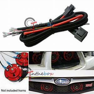 12v Horn Wiring Harness Relay Kit Fit Car Truck Grille