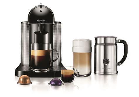 nespresso vertuoline coffee espresso maker  aeroccino  milk frother black cutlery