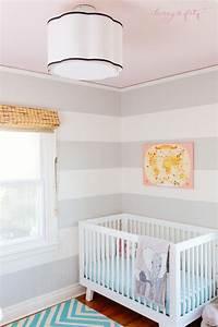 Modern safari coral ceiling nursery reveal
