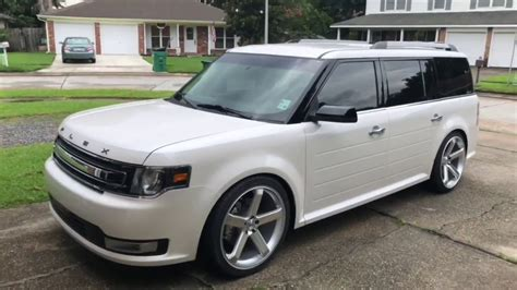 ford flex lowered  bc racing coilovers  youtube