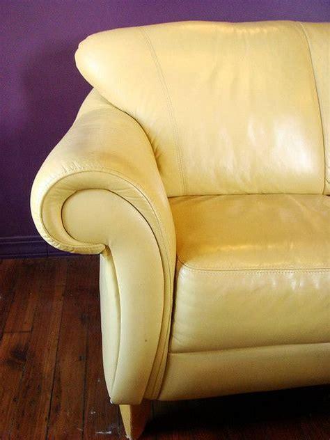 yellow leather sofas ideas  pinterest yellow