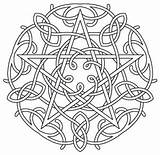 Coloring Pages Pentagram Mandala Pentacle Celtic Embroidery Pagan Designs Fire Water Earth Air Wiccan Symbols Pattern Spirit Adult Urbanthreads Wicca sketch template