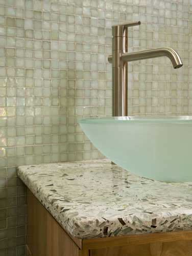 Recycled Glass Bathroom Countertops by Healthy Green Design Design With Recycled Glass