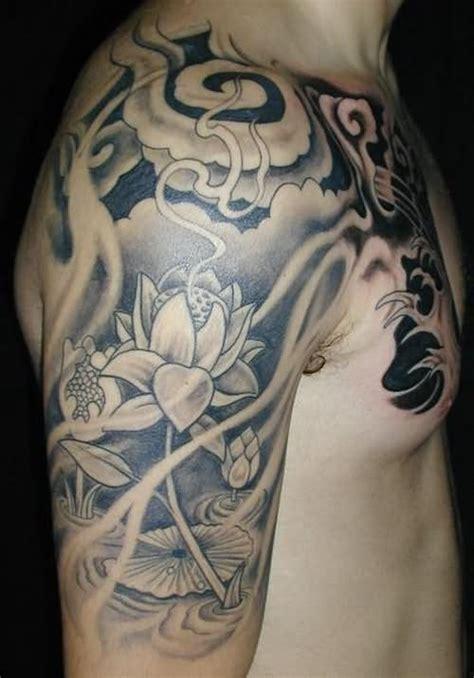black  grey  sleeve tattoos