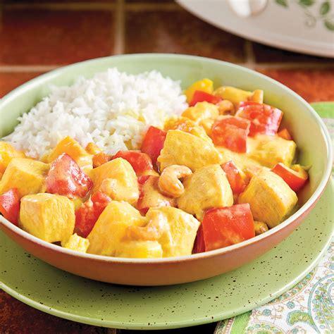 cuisiner l ananas cari de poulet à l 39 ananas recettes cuisine et