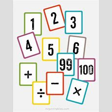 Free Printable Math Flash Cards  Numbers 1 To 100 & Math Symbols  Love To Learn Pinterest