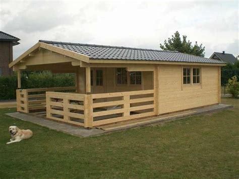 Blockhaus, 5,05x5,05 + Terrasse, Gartenhaus Inklusive