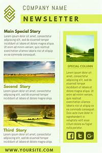 yellow company newsletter design template click to With newsleter templates