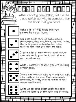 "FREEBIE: ""Read and Roll"" - Reading Responses for Fiction"