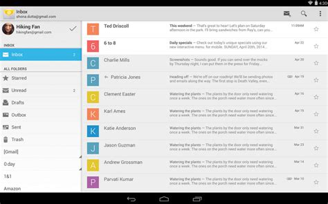 stock android email app makes its debut on play