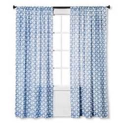 amazon com threshold blue semi sheer tile curtain panel