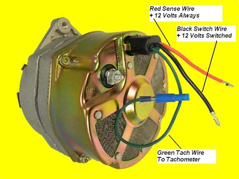 Diesel Tach Wiring by New Delco Marine 10si Alternator Mercruiser 3 Wire With