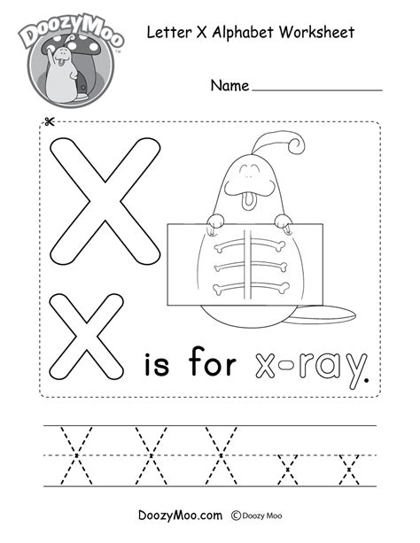 preschool letter x printable worksheet preschool
