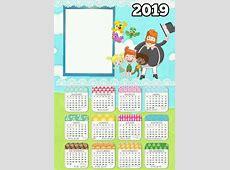 Arte Digital Calendario 2019 Para Imprimir Varios Temas