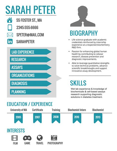 infographic resume flash banner contest