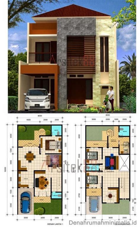 desain rumah minimalis  lantai beserta denah  rumah
