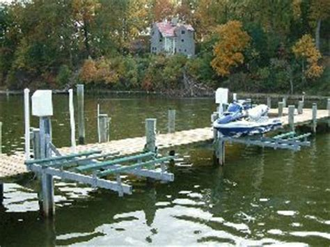 Boat Lifts For Sale Lake Norman by Lunmar Mini Mag Pile Driving Lifts Lake Norman Nc