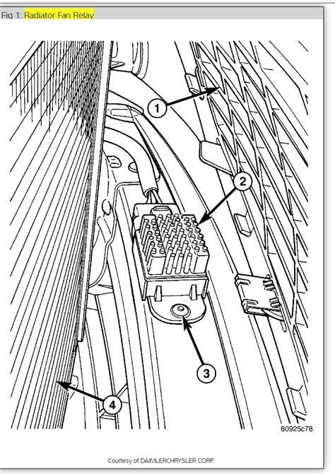 Radiator Fan Relay Fans Would Not Turn Off