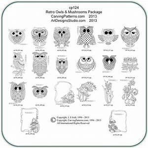 Retro Owls & Mushrooms Patterns – Classic Carving Patterns