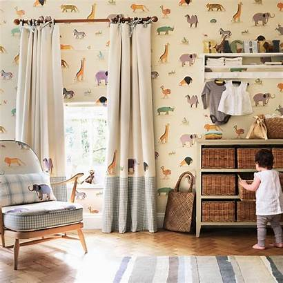 Sanderson Curtains Curtain Fabric Wallpapers Bedroom Childrens