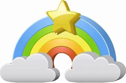 Rainbow Clipart Kindness Random Star Clip Clouds