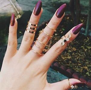 Burgundy Stiletto Nails Pictures, Photos, and Images for ...