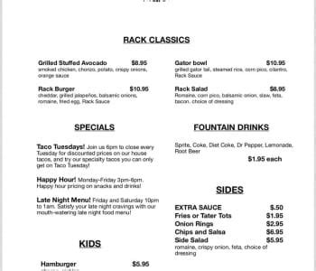 Spice Rack Burleson Tx by Spice Rack Sports Bar Unveils New Upscale Bar Menu Concept