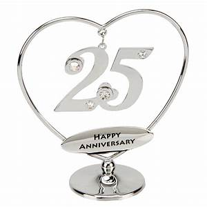 25th anniversary cake topper 25th silver anniversary With 25 wedding anniversary gifts