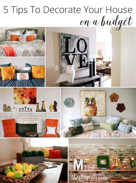 tips  decorate  house   budget