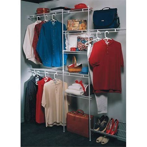 Closet Wire Organizer Systems by Closetmaid 5 To 8 Foot Wire Closet Organizer Kit Clothes