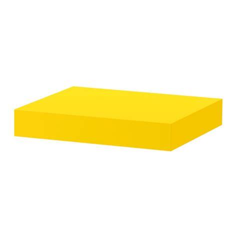 lack wall shelf yellow ikea