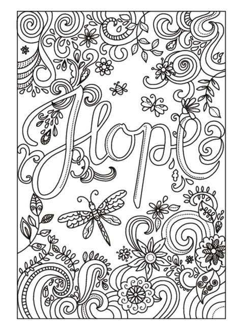 adult coloring books with words amanda hillier 2 hope adult coloring pages coloring