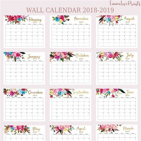 wall calendar   calendar printable calendar floral