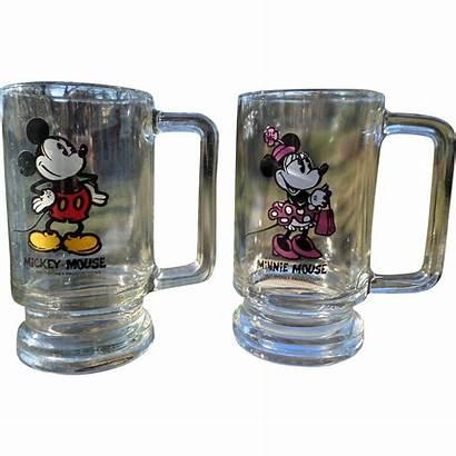 Mickey Mouse Disney Minnie Glasses Walt 1970s