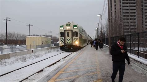 Georgetownkitchener Line Go Transit Train Departing