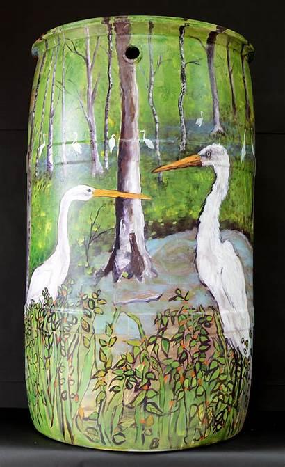 Rain Barrels Contest Barrel Catchment Painted Beautify