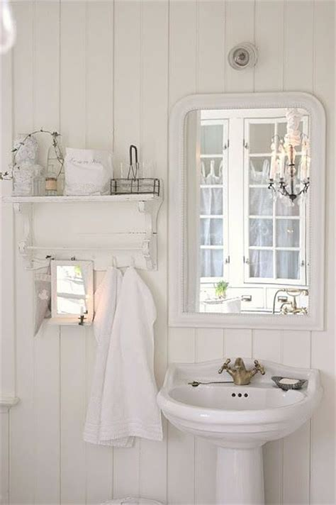 old fashioned white cottage bathroom cozy cottage