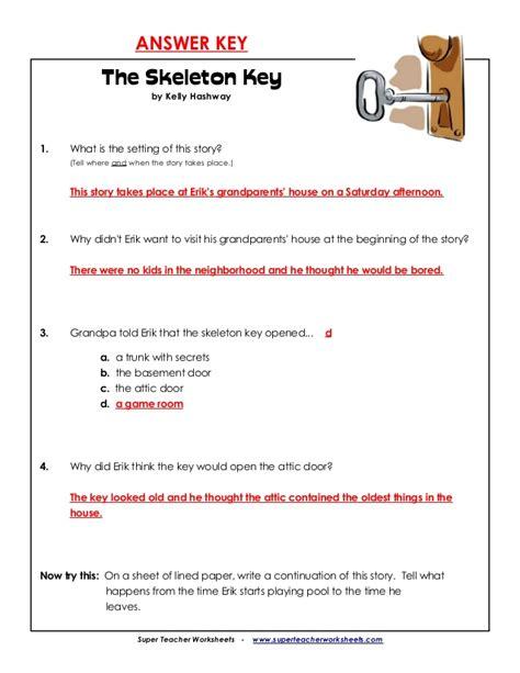 www superteacherworksheets answer key 4th skeleton key