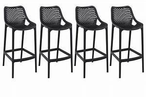 Tabouret 65 Cm But : tabouret de bar design 65 cm noir lot de 4 lucy miliboo ~ Teatrodelosmanantiales.com Idées de Décoration