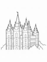 Lds Temple Salt Lake Coloring Primary Pages Clipart Drawing Line Temples Utah Outline Printable Saint Mormon Symbols Gospel Library George sketch template