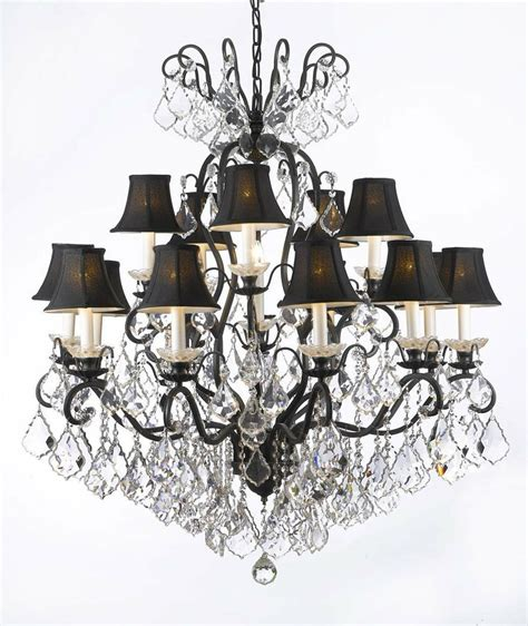 wrought iron chandeliers with shades swarovski trimmed wrought iron chandelier lighting