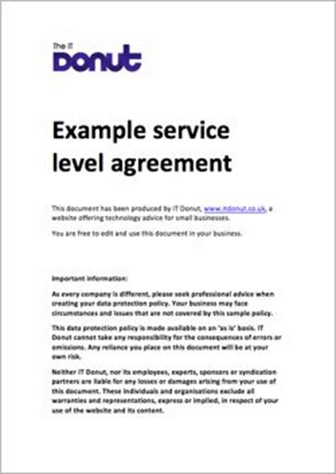 service level agreement service level agreement
